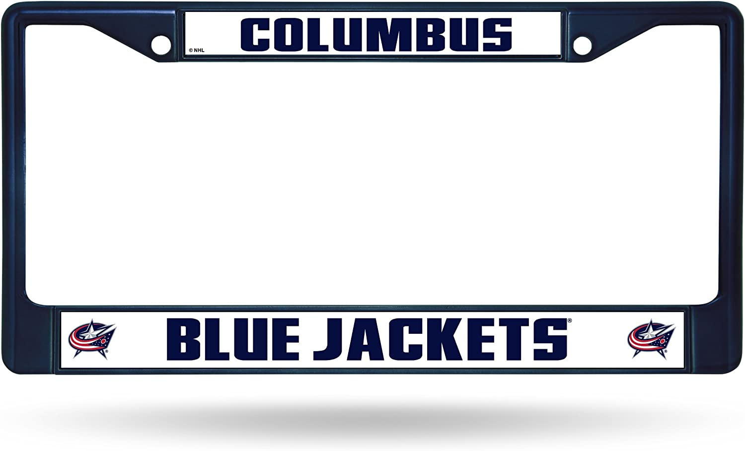 Blue Columbus Blue Jackets NHL Rico Industries Standard Chrome License Plate Frame