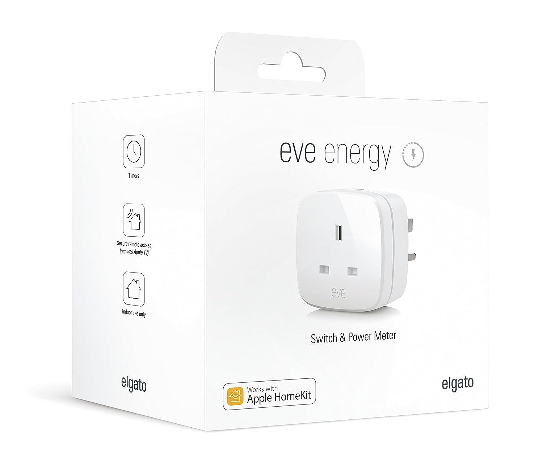 Elgato Eve Energy (UK) - Interruptor y medidor de Potencia con tecnología Bluetooth de Baja energía, Compatible con Apple HomeKit: Amazon.es: Electrónica