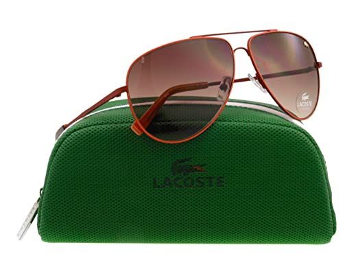 42c89dae1ba Image Unavailable. Image not available for. Colour  Lacoste 615 Satin Red  129 Aviator Sunglasses Lens Category 2