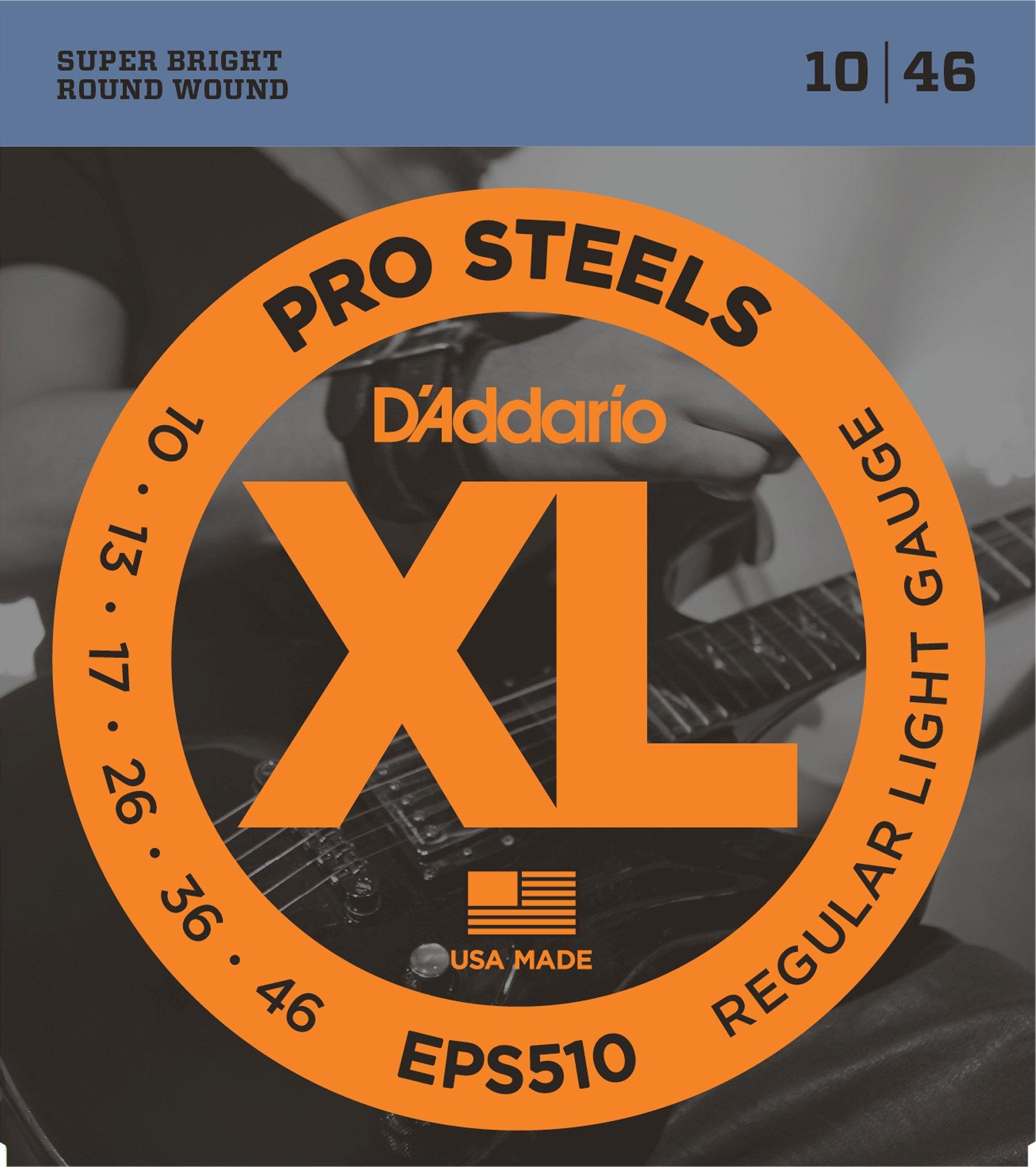 DAddario EPS510 - Juego de cuerdas para guitarra eléctrica de acero, 010