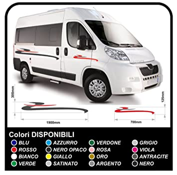 Motorhome stripes stickers for motorhomes and minibus mini bus graphics vinyl stickers camper decals set