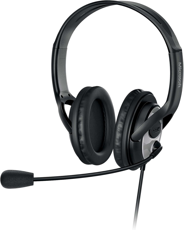Microsoft LIFECHAT LX-3000 Computer Headsets w Microphone USB Powered Free Ship
