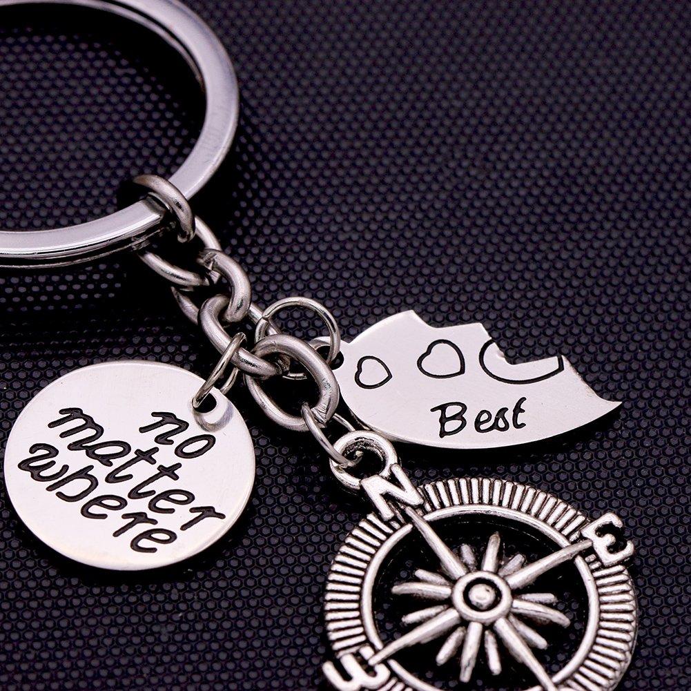 Amazon.com: O. Riya mejores amigos no importa donde brújula ...