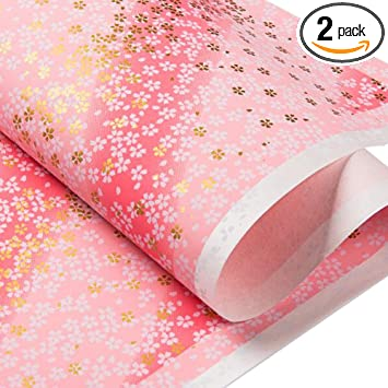 Set of 3 Cherry Blossom Wrapping Paper Sheets