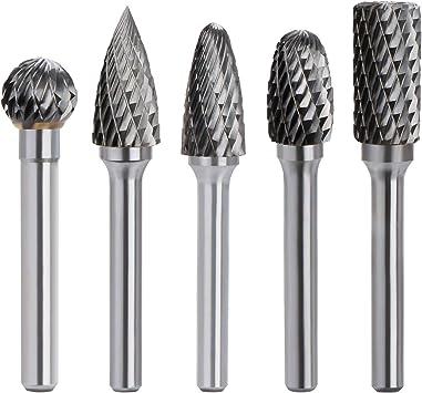 10Pcs Tungsten Carbide Burrs 6mm Rotary Burr Set Head Shank Die Grinder Bit