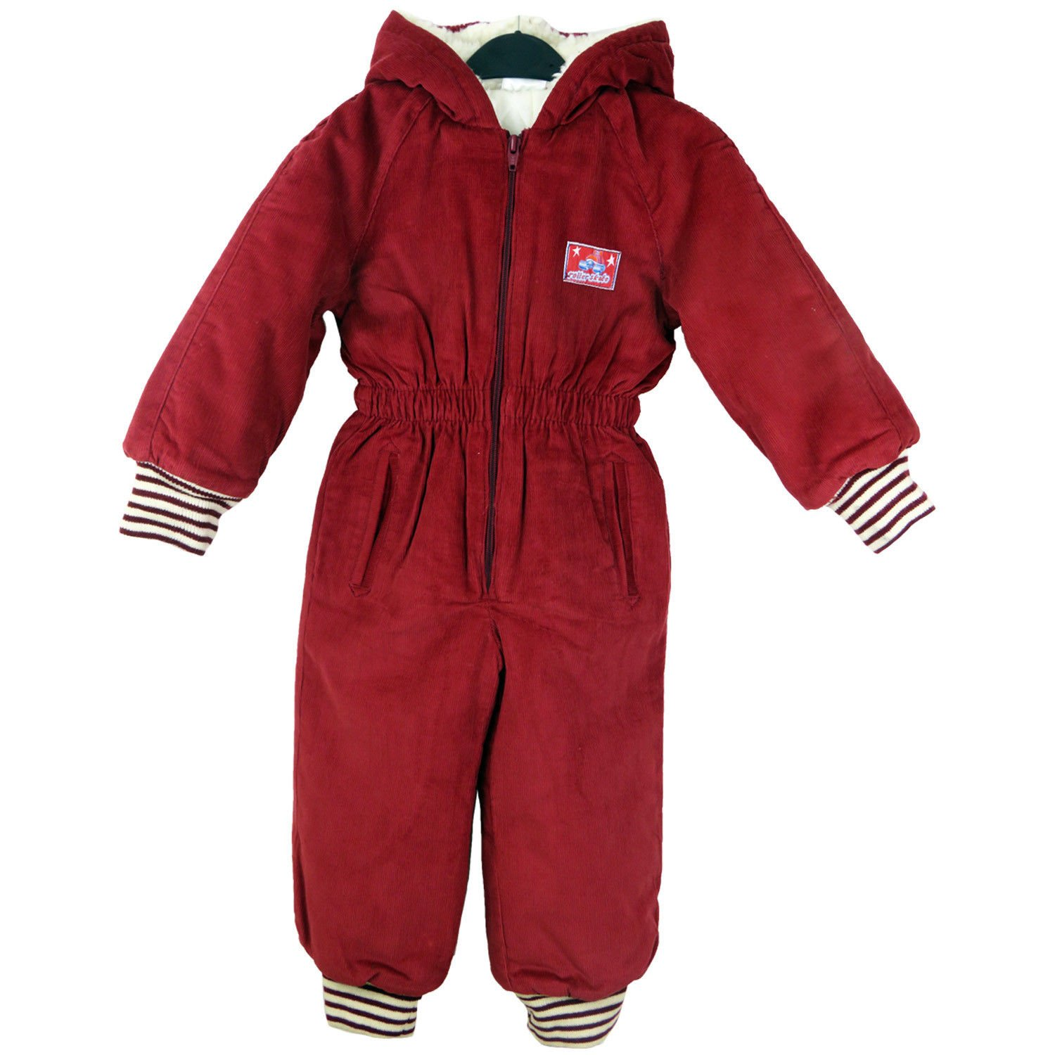 Kids Padded All-In-One Suit Snowsuit Childs Childrens Boys Girls 3-4Years