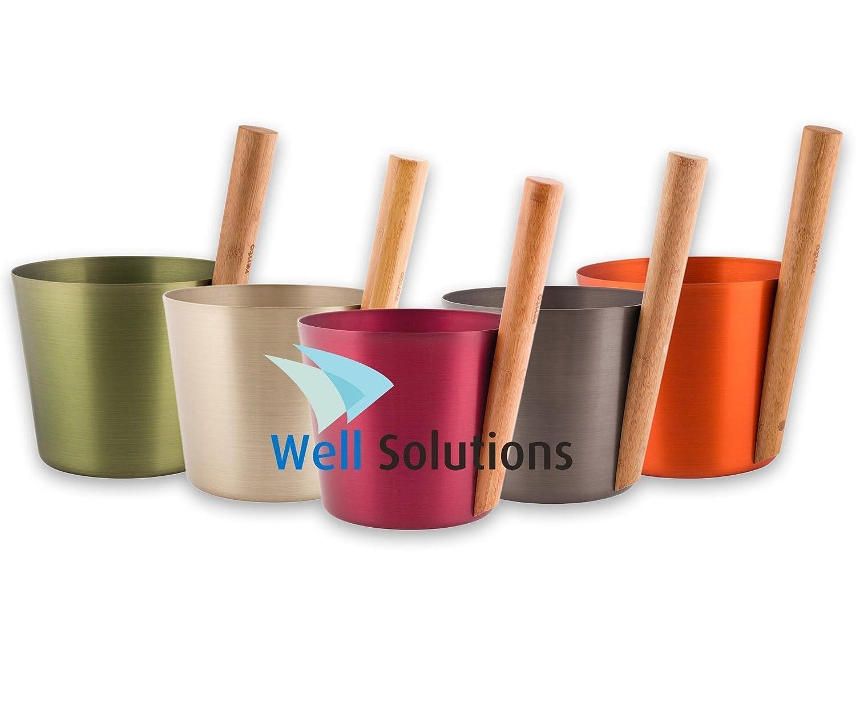 Well Solutions/® rento Dise/ño Cubo para sauna by rento//–/Color a elegir
