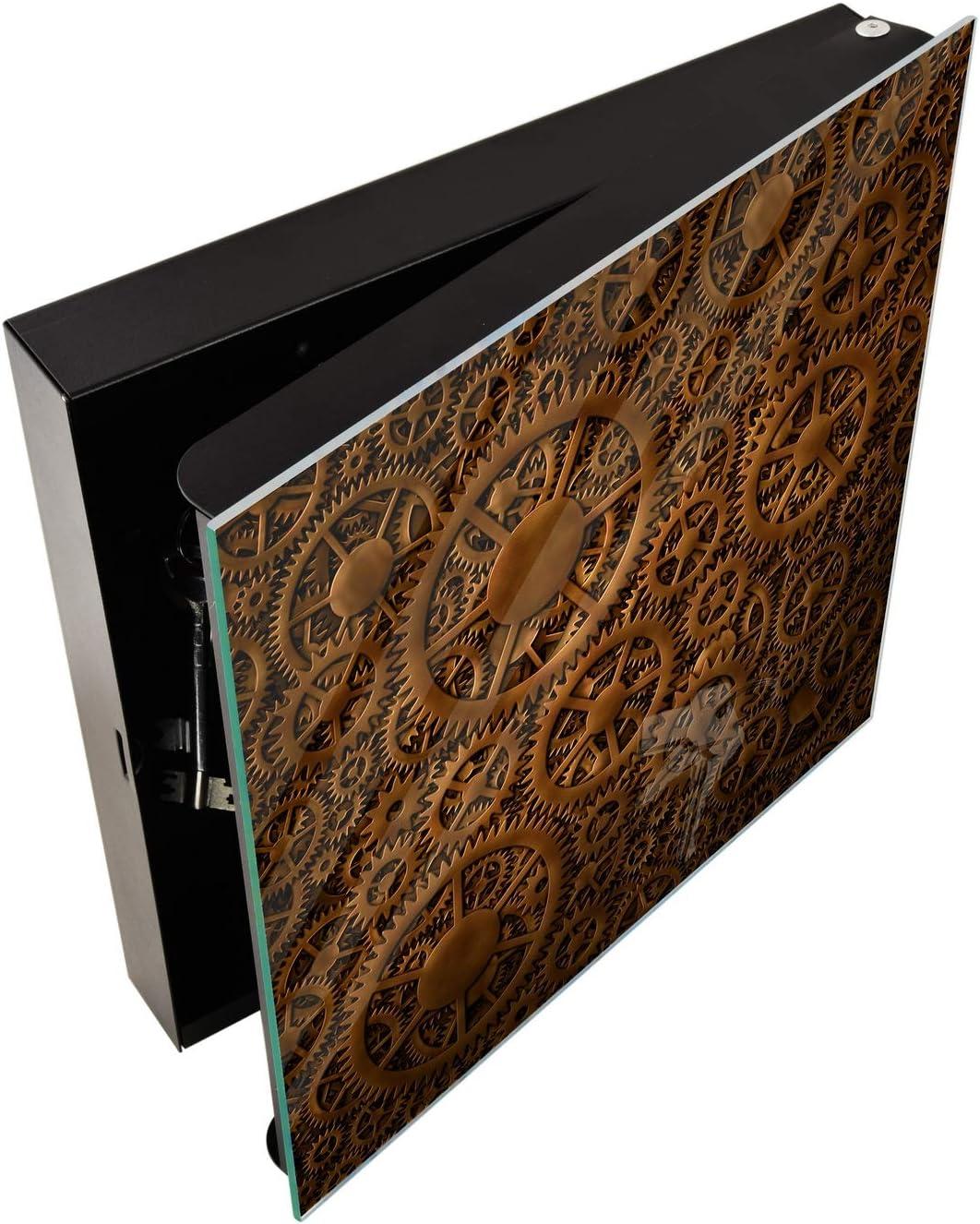 Concept Crystal Petite Armoire pour cl/és avec Motif au Choix K01 Abstract Van Gogh