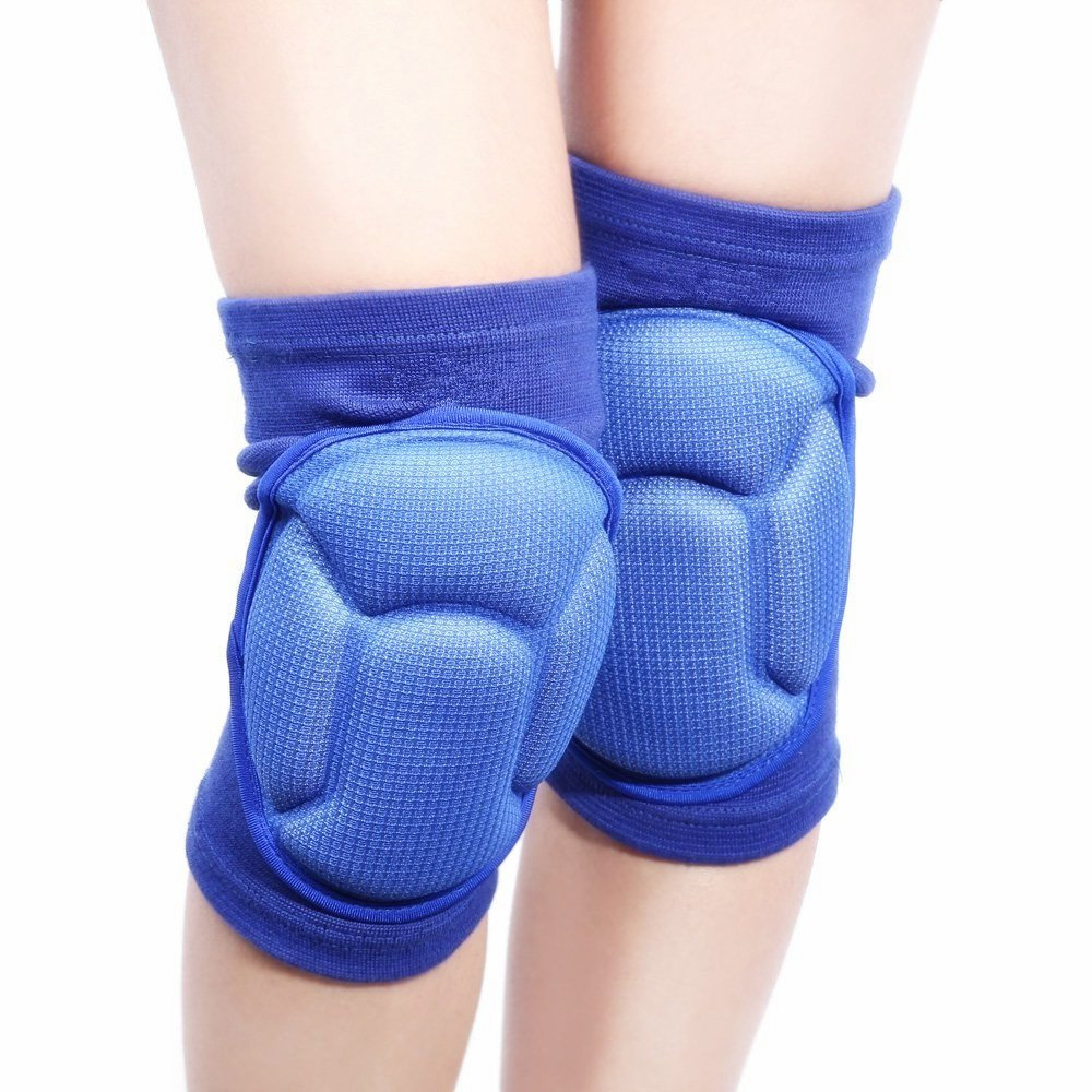 1 Pair Volleyball Thicken Knee Pads Brace for Knee Support -Sports Protective Knee Protector Rugby Kneepad Aogolouk