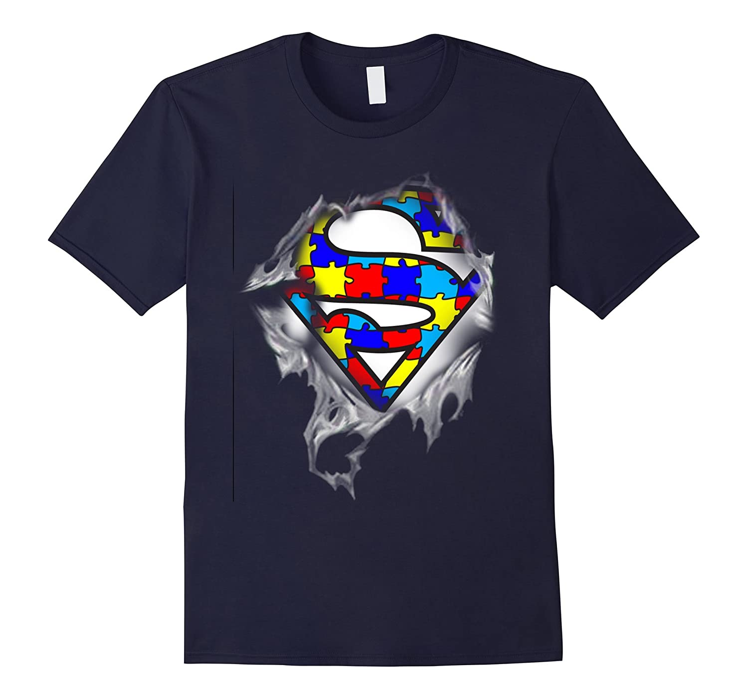 Autism Awareness Day Gifts Super Autism T-shirts color-TD