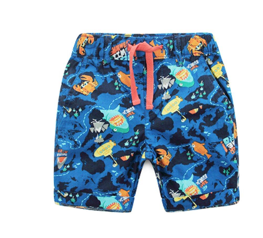 Panda Superstore Cartoon Printing Boys Summer Beach Shorts Swimming Trunks Beach Wear 110CM