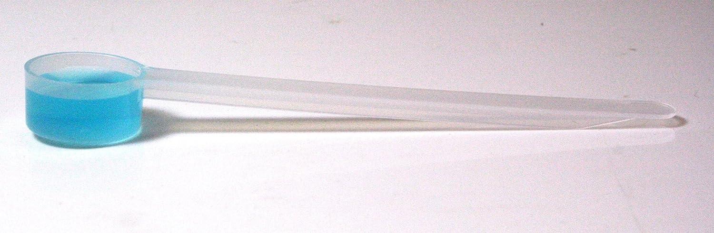 5mL (1 Teaspoon) Plastic Measure w/Extra Long Handle, Pack of 25 Measuring Scoops Measurex