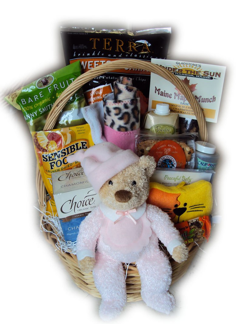 Deluxe Healthy Mommy and Baby Gift Basket by Well Baskets