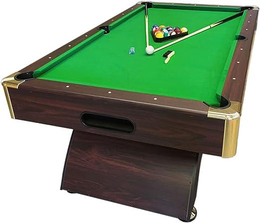 Mesa de billar 8FT juegos de billar Modelo LEONIDA Carambola Medición 220 x 110 cm Verde: Amazon.es: Deportes y aire libre