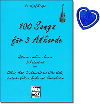 100 canciones para Acordes de 3 1 de banda (Azul) – Guitarra ...
