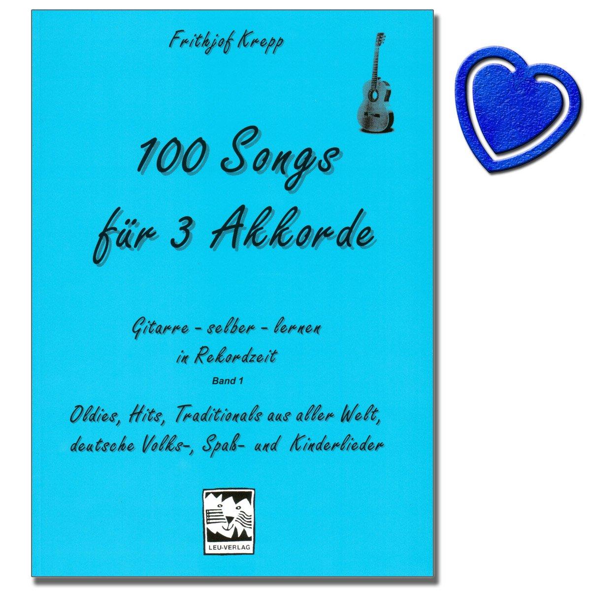 100 canciones para Acordes de 3 1 de banda (Azul) - Guitarra ...