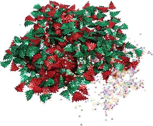 Amosfun mesa de navidad confeti árbol de navidad confeti de copo de nieve dispersión lentejuelas confeti para fiesta de navidad: Amazon.es: Hogar