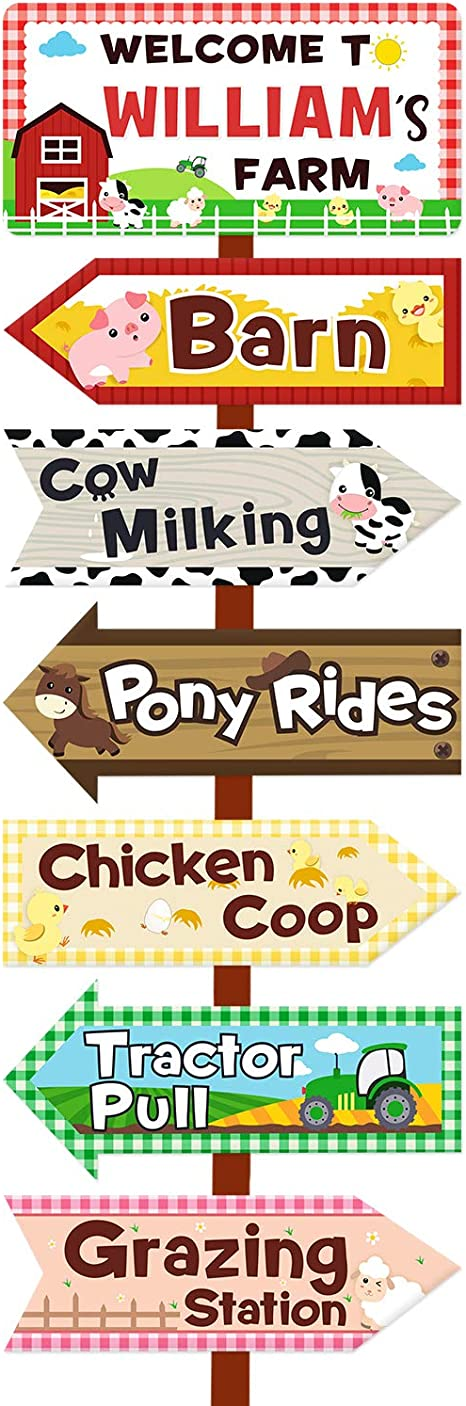 Welcome to name chick, Barnyard Personalized Welcome sign Cow Farm