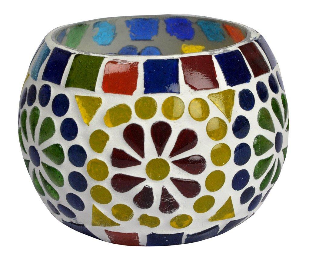 indiano vetro tavolo porta candeles antico 8 Cm Lal Haveli HND00668