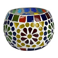 Lalhaveli Home Decorative Votive Tea Light Candle Holder Diwali Decoration 3 Inches (Candle Included)