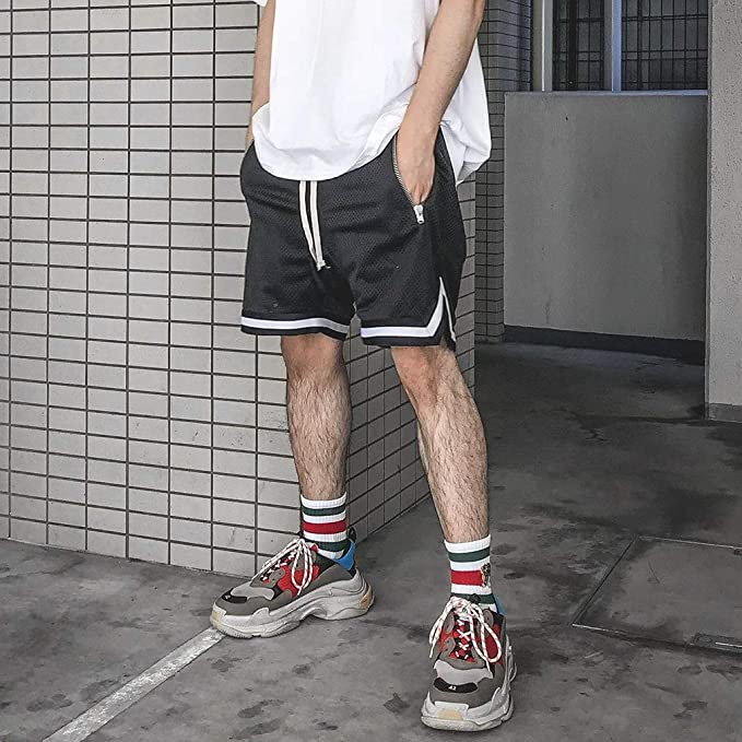 Hombres Pantalones Cortos De Hiphop Deportivos Gimnasio Informal Entrenamiento F/ísico Pantalones Cortos hasta La Rodilla Pantalones Cortos Capri Chino Pantalones Cortos Transpirables