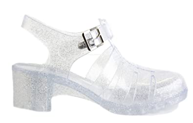 3a249a58e673 Style B Clear Size 6 - Ladies Womens Holiday Beach Summer Jelly Jellies  Sandals Flat Shoes