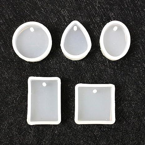 ma-on tipos moldes de silicona moldes DIY Jewelry Making herramientas con orificio para colgar