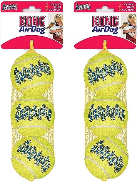 KONG Company - Pelotas de Tenis para Perro Air Squeaker (3 ...