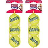 KONG Air Squeaker Tennis Balls Size:Medium(6_Balls)
