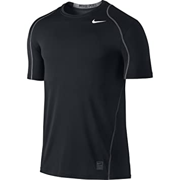 Amazon.com: NIKE Men's Pro Fitted Short Sleeve Shirt: Sports ...