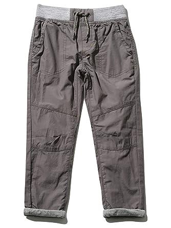 0b280e0f7 M&Co Boys Cotton Lined Grey Stretch Waist Pockets Turn Ups Cargo Style Poplin  Trousers Grey 12/13 Yr: Amazon.co.uk: Clothing