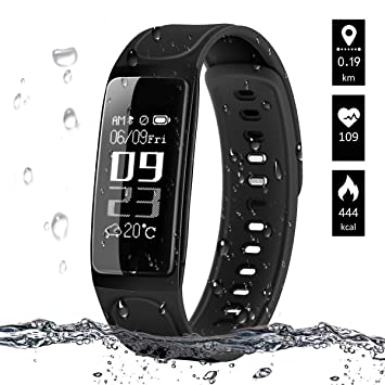 ELEGIANT Montre Connectée, Bracelet Connectée Podometre Fitness Tracker dActivité Bluetooth Montre Intelligent avec