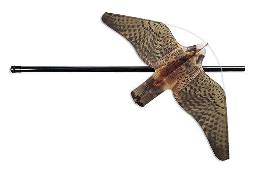 Professionelle vogelscheuche eolo falke teleskopstange inkl. 7 mts