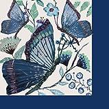Butterflies Shades of Indigo Paper Luncheon Napkins