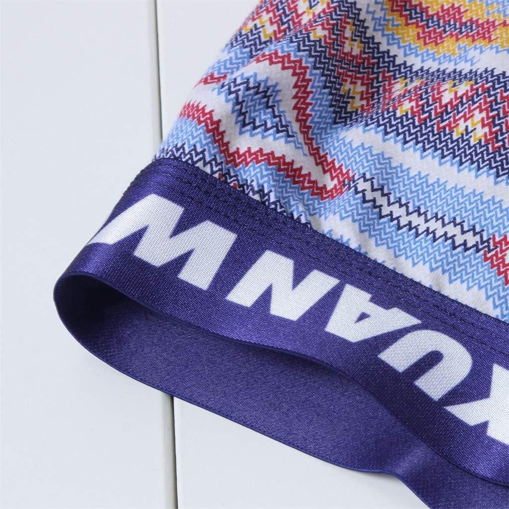 LIKESIDE Briefs Underwear Fashion Men Breathable Cotton Print Sport Pouch Brief