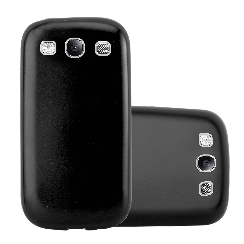 Cadorabo Funda para Samsung Galaxy S3 / S3 Neo en Metallic Negro – Cubierta Proteccíon de Silicona TPU Delgada e Flexible con Antichoque – Gel Case ...