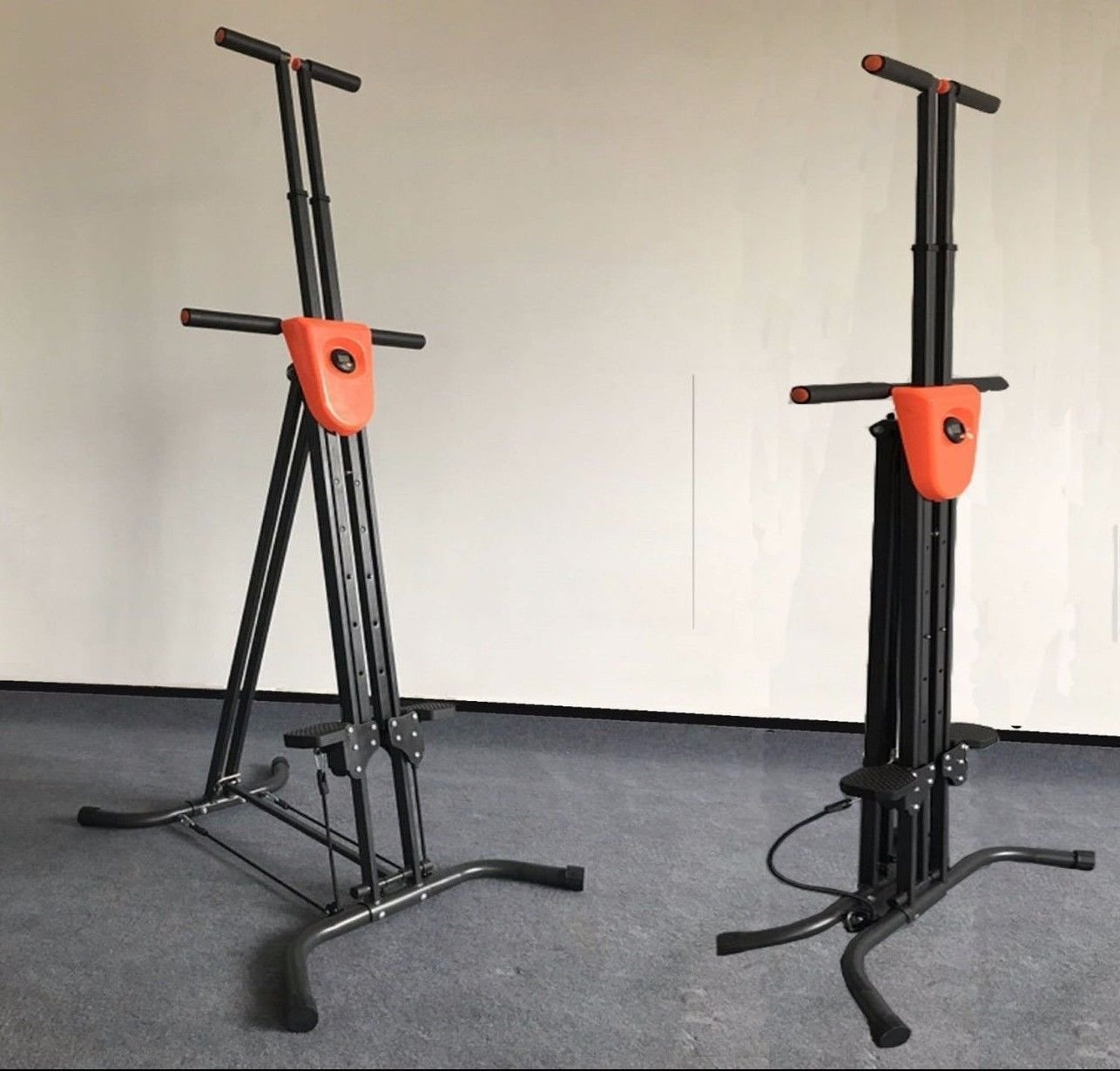 Coldcedar Foldable Vertical Climber Cardio Exercise with monitor and resistance straps for smooth climbing Full Body Workout As Seen On TV (Black, 286lbs) by Coldcedar (Image #2)