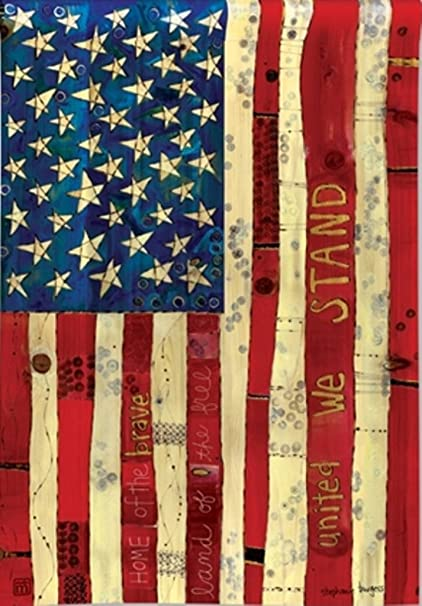 Amazon Com Breezeart Home Of The Brave Garden Flag 31299 Arts Crafts Sewing