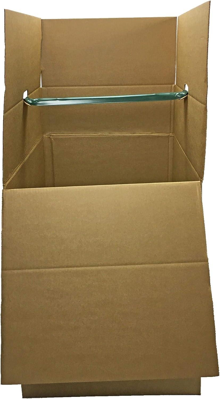"Shorty Space Saving Wardrobe Moving Boxes (Bundle of 6) 20"" x 20"" x 34"" Moving Boxes"