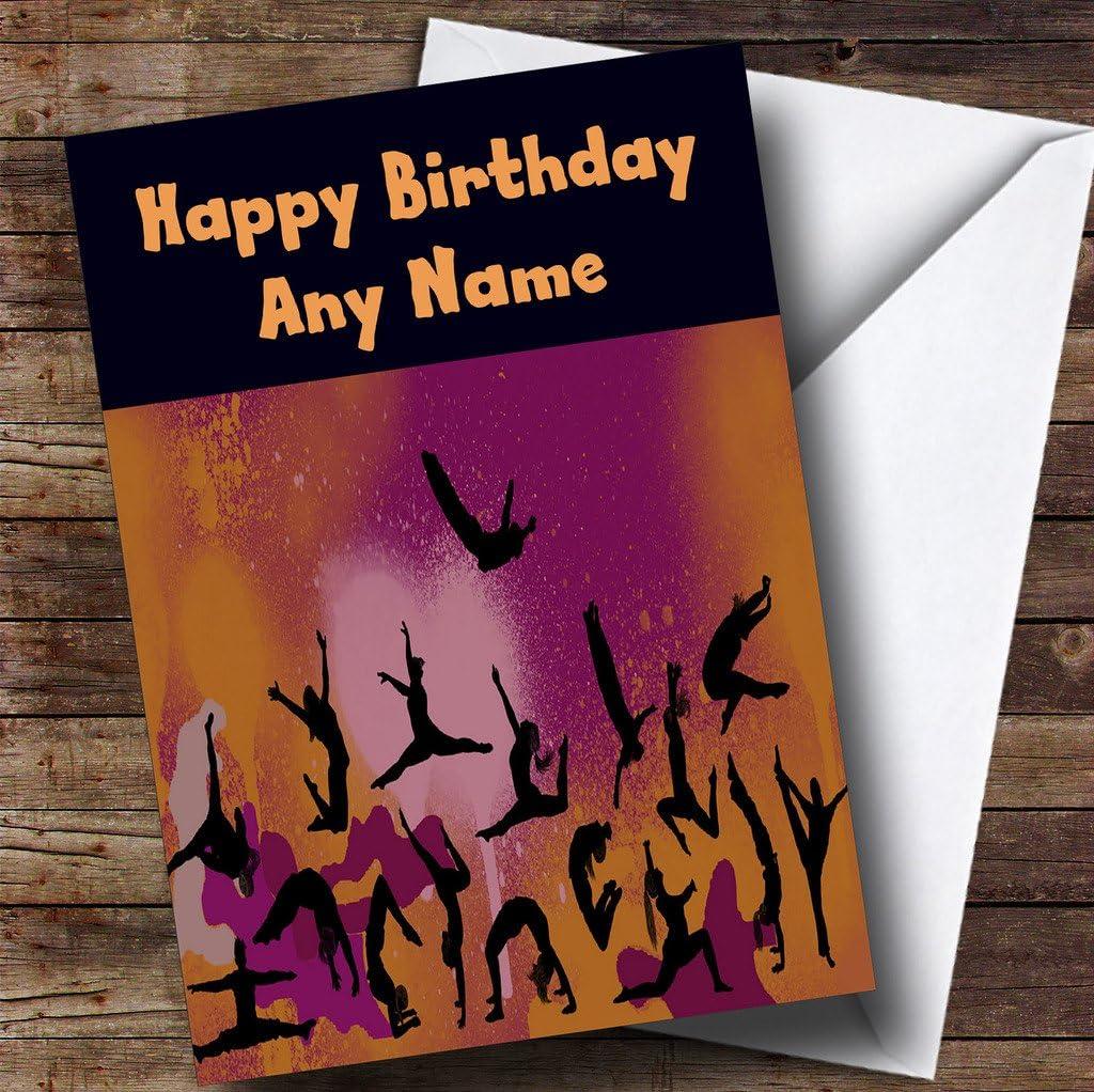 Gymnastics Gym Personalised Birthday Card