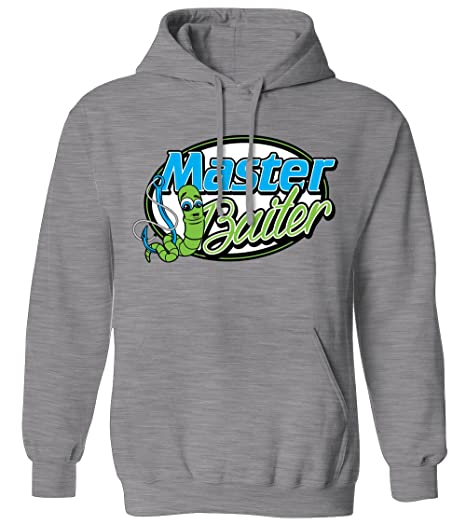 87a543028 Amazon.com  Master Baiter - Funny Fishing Sex Joke Worm Bait Mens Hoodie  Sweatshirt  Books