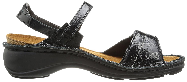 NAOT Women's Papaya Flat B004OSQV0C 41 EU/9.5 - Leather 10 M US|Black Madras Leather - 041e6f