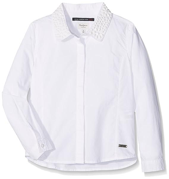 48f1e9c60 Pepe Jeans Girl s Trinity Blouse  Amazon.co.uk  Clothing