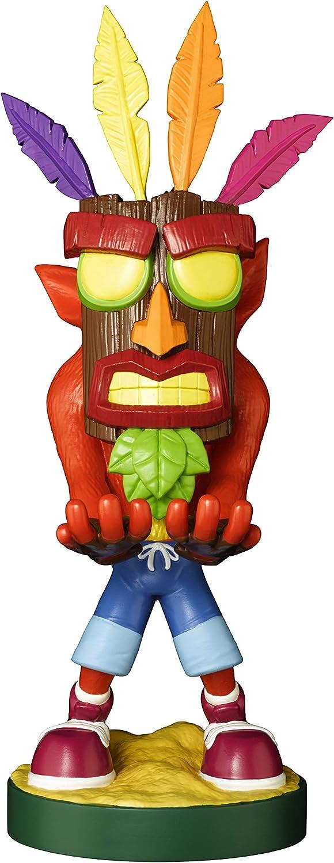 Cable guy Aku Crash Bandicoot, soporte de sujeción o carga para mando de consola y/o smartphone de tu personaje favorito con licencia de Activision. Producto con licencia oficial. Exquisite Gaming