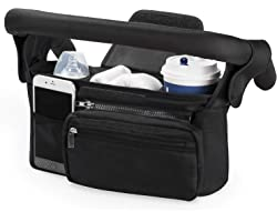 Stroller Organizer with Insulated Cup Holder by Momcozy - Detachable Phone Bag & Shoulder Strap, Fits for Stroller like Uppab