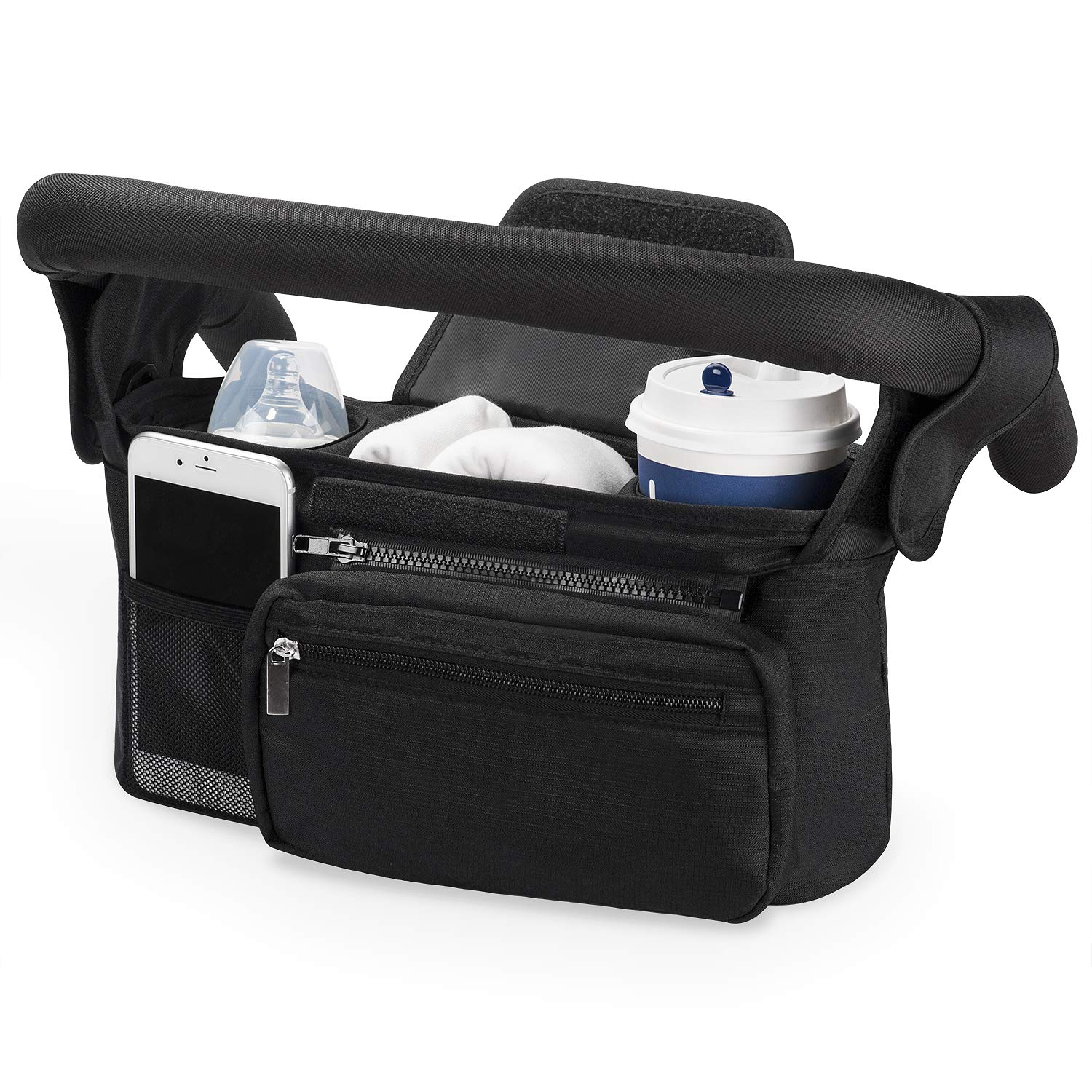Wallets Stroller Organizer for Smart Moms Extra Storage Space for iPhones Toys Premium Deep Cup Holders The Perfect Baby Shower Gift Linen Diapers