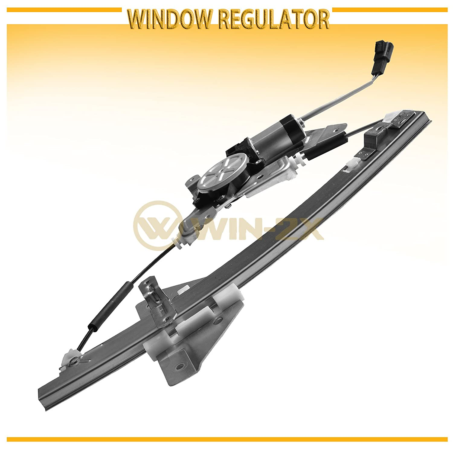 Win 2x New 1pc Rear Passenger Right Side Power Window 2004 Pontiac Grandam Motor And Regulator Assembly With Fit 99 04 Oldsmobile Alero 05 Grand Am 4 Door