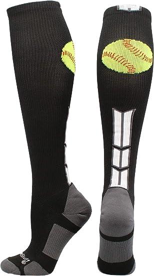MadSportsStuff Softball Bomber Over The Calf Socks Multiple Colors