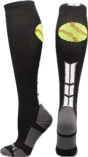 product image for MadSportsStuff Softball Logo Over The Calf Socks (Multiple Colors)