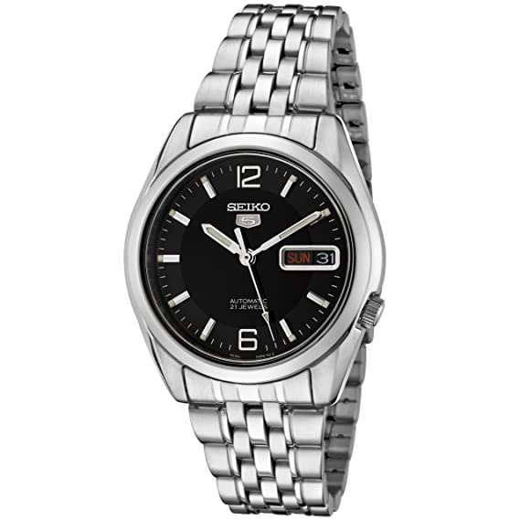 3d87d0757 Image Unavailable. Image not available for. Colour: Seiko Men's Analogue  Automatic Watch with Stainless Steel Strap SNK393K1